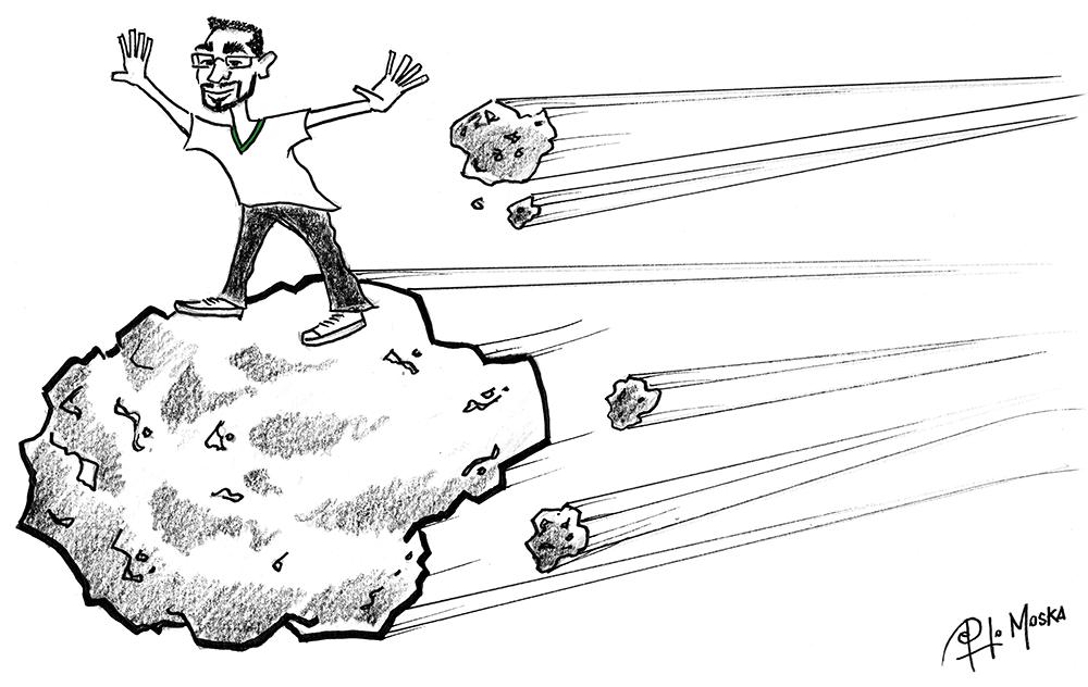 Luiz Fernando Surfando no Asteroide