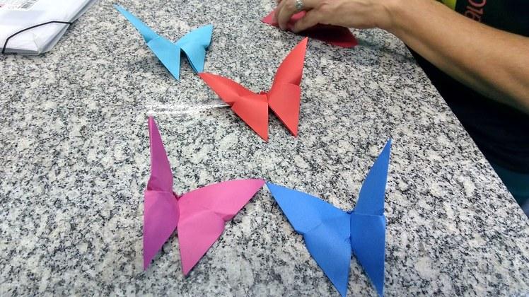 Origami de borboletas