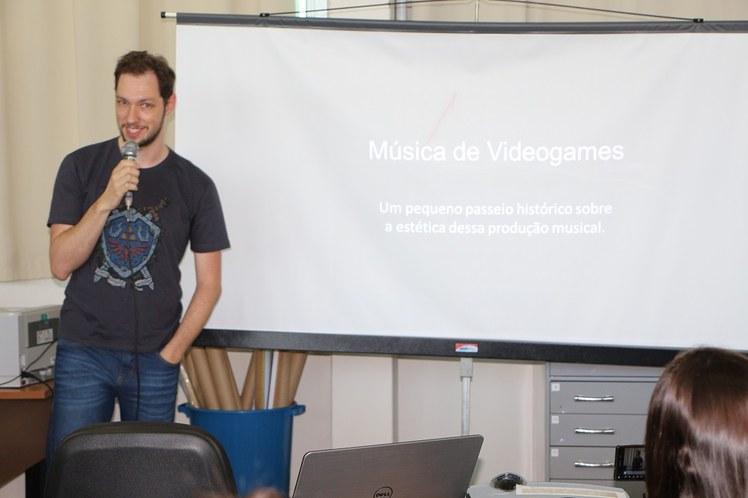 Palestra música de video game
