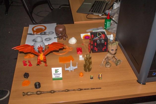Peças impressas na impressora 3D do IFMaker