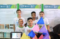 Apresentação do trabalho dos estudantes de nível fundamental