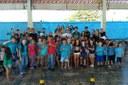 Estudantes da escola municipal assistiram as apresentações. Foto: Campus Campo Grande