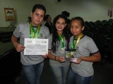 Alunos da Escola Municipal Delmiro Salvione Bonin receberam seis prêmios na Fecinova