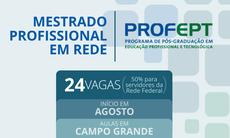 Segundo pró-reitor de Pesquisa, Inovação e Pós-Graduação da instituição, esta é uma das maiores concorrências em cursos de mestrado em Mato Grosso do Sul.