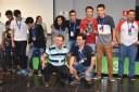 Equipes Ponta Porã com o reitor e o professor Marcos