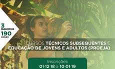 São oferecidas 190 vagas em cursos técnicos presenciais nos municípios de Dourados, Nova Andradina e Ponta Porã. Inscrições seguem até 10 de janeiro.