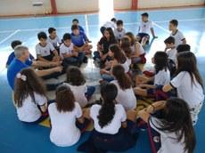 Oficinas de teatro foram promovidas para estudantes do ensino fundamental do município